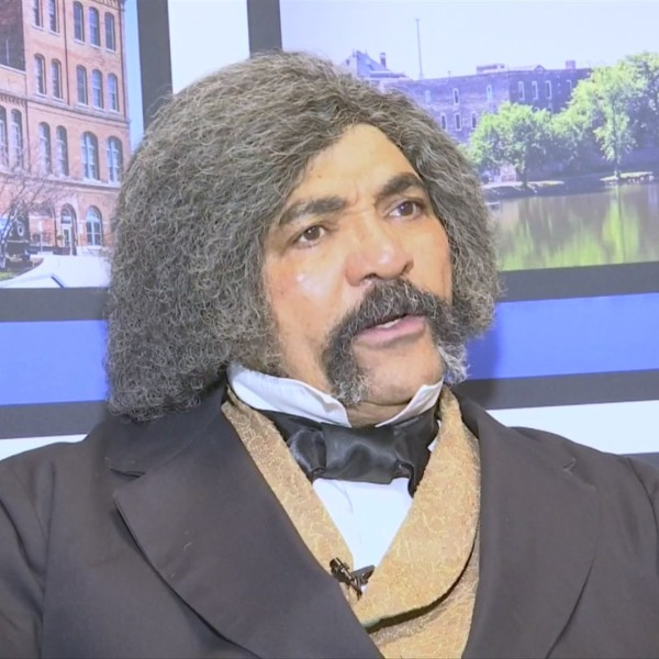Freeport native has been performing as abolitionist Frederick Douglass for 20 years