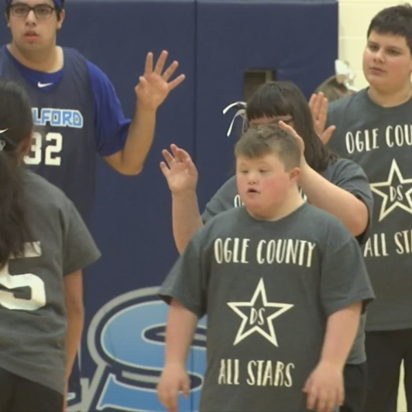 Guilford High hosts basketball game for disabled students