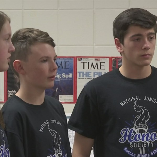 Middle school students walk to raise money for water for Africa