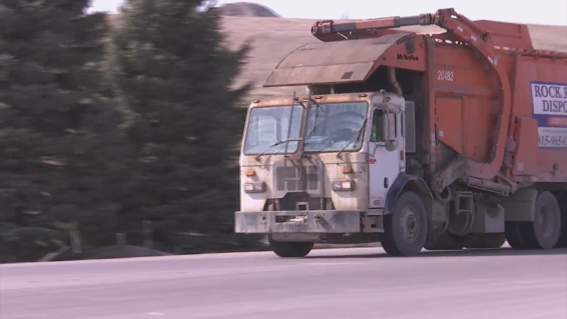 Many stateline roads littered with trash from passing garbage trucks