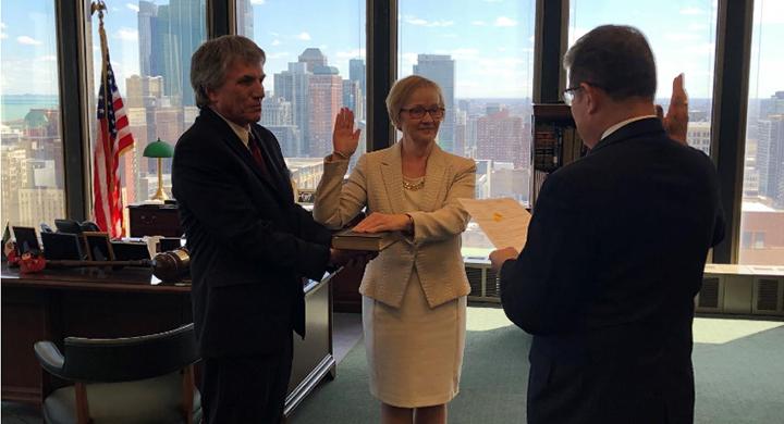 Lisa Jensen sworn in