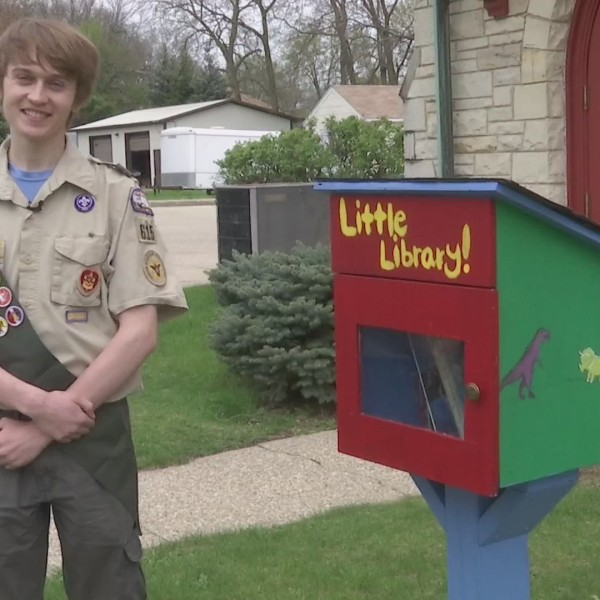Eagle Scout builds 'Little Libraries' to encourage literacy in Beloit