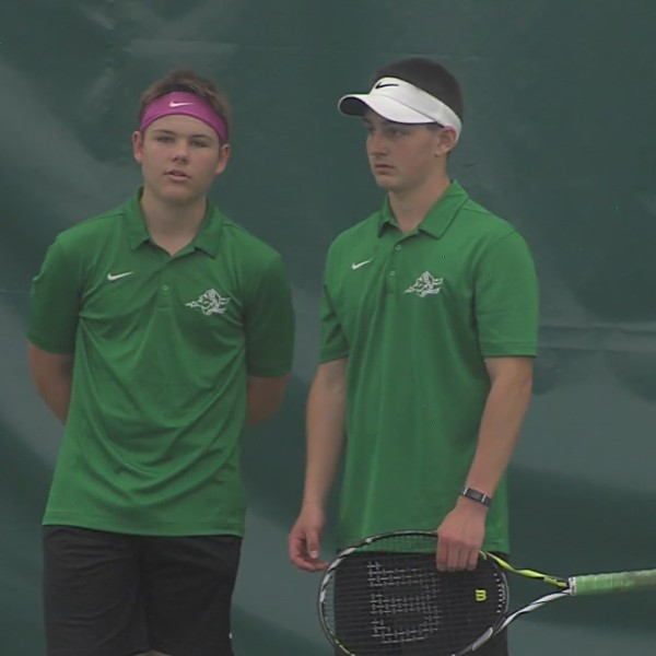Football player and soccer player from Boylan make surprising State tennis combo
