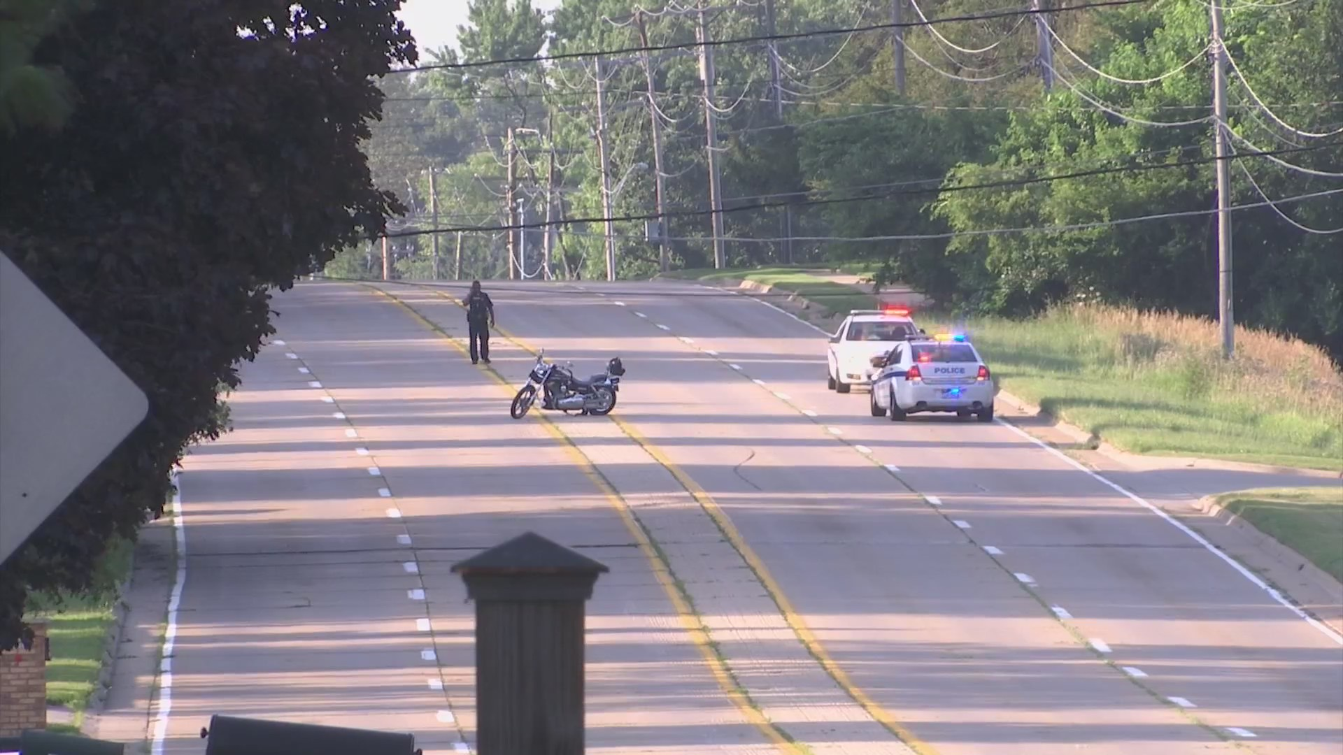 Motorcycle crash sends man to hospital with life-threatening