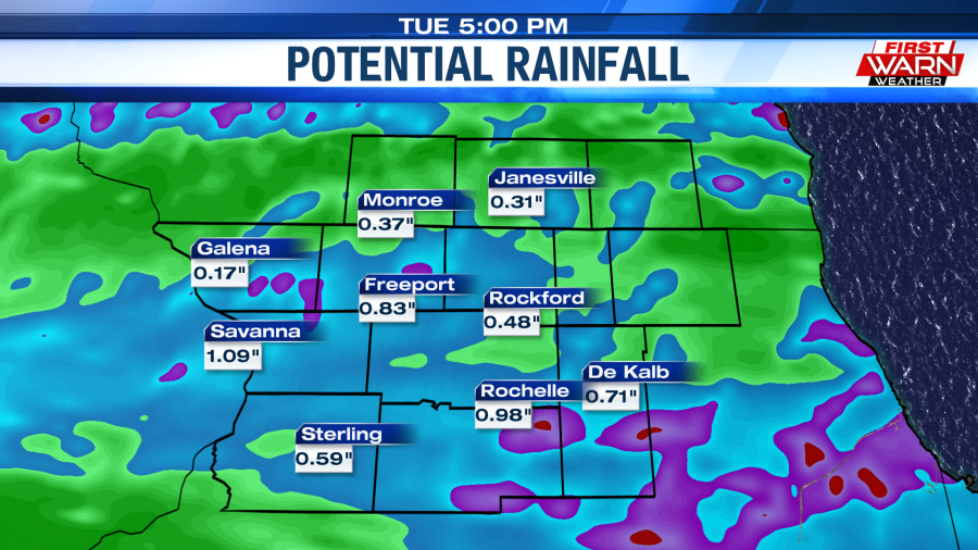 Heavy Rain and Strong Thunderstorms Possible Monday Afternoon and