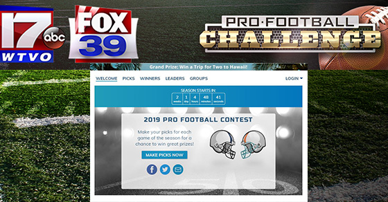 Enter to win a trip to Hawaii witht the Pro Football Challenge