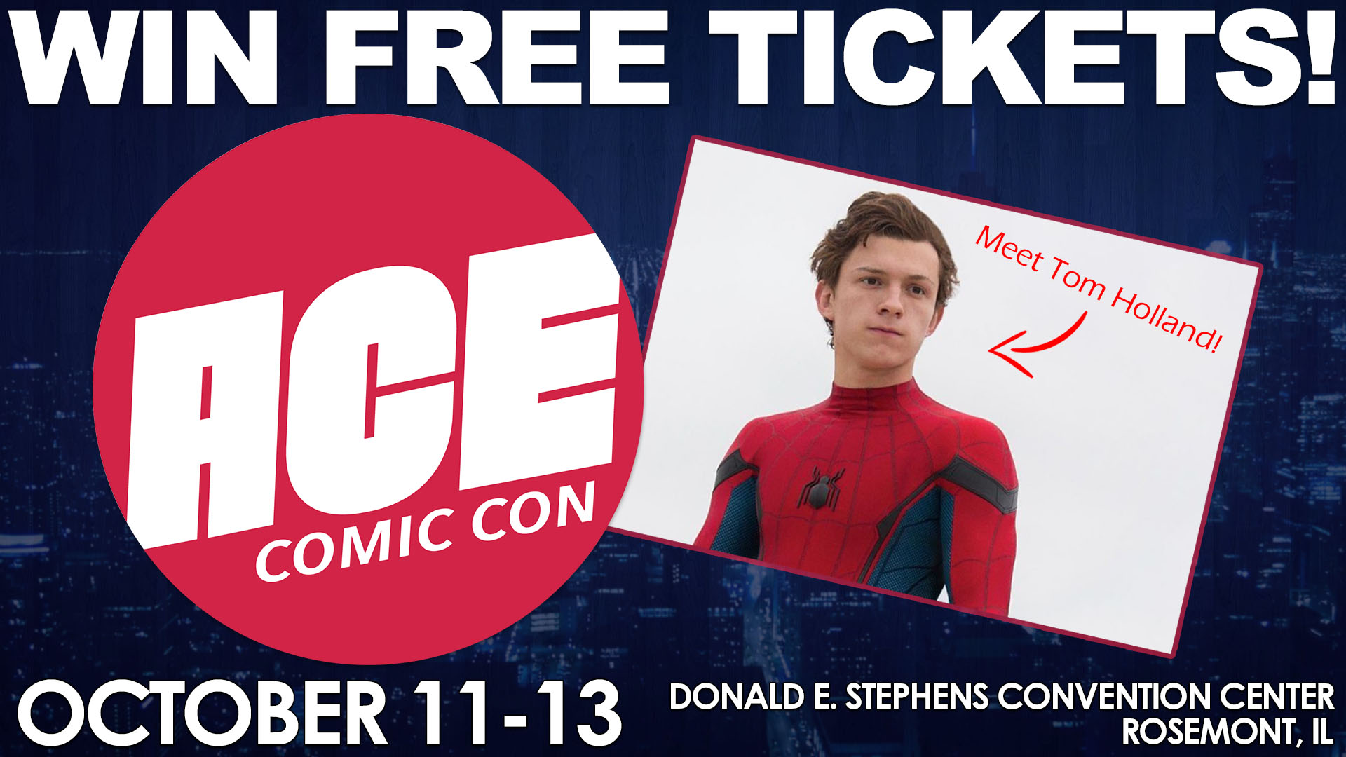 Enter to win tickets to ace comic con