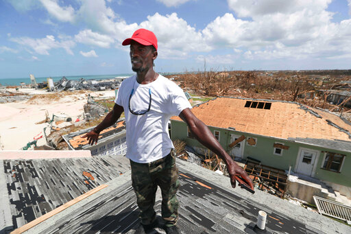 Silence, devastation mark Bahamas town