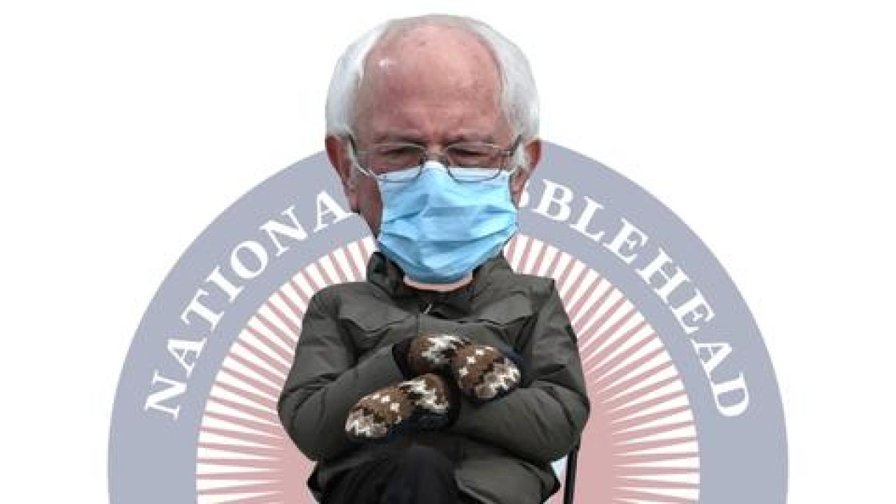 Inauguration Photo Of Sen Bernie Sanders Sparks Memes Official Bobblehead Mystateline Com